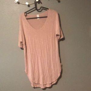 Light pink blush long tunic